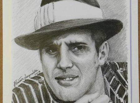 Adriano Celentano ritratto a matita